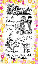 FLONZ Happy Whirlwind // Happy Birthday Wishes unmounted clear acrylic stamp 304