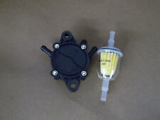 Fuel Pump & Filter replaces Kawasaki For 15 thru 25 HP engines John Deere