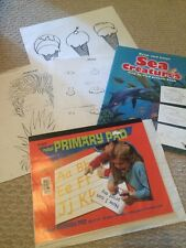 22pc Set Drawing Kit Draw And Color Sea Creatures 18pgs Of Rules Primary Sheets