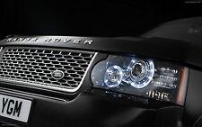 Front BONNET Hood Up Grille Rear trunk LAND ROVER Range Rover Emblem Sticker BK