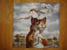 1Tapestry Pillow cases Author's Russian Painting Funny  Cats Rumyantsev