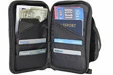 Travel Wallet and Passport Holder Neck Pouch - RFID Blocking Document Organizer