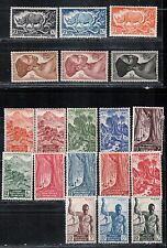1946 French colony stamps, Equatorial Africa, full set MH, SC166-84