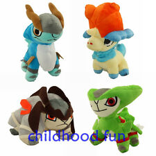 "Pokemon BW Plush Toys Lot Of 5""~7"" Keldeo Virizion Terrakion Cobalion New Dolls"