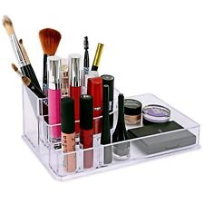 8 SECTION ACRYLIC MAKEUP BRUSH NAIL POLISH COSMETIC HOLDER STORAGE ORGANISER