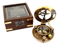 Maritime Pocket Sundial Compass with Box – Hatton Garden sundial compass w Box