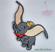 Dumbo Fly Elephant, Flying Iron/Sew On patch Cartoon Embroidery Applique Animal