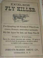 Vintage Fly Killer Advertisement Flyer Coxsackie, NY Catskill Mts. Farm Cow Ad