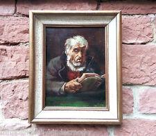 Leggendo Vecchio con Libro Seemann? Dipinti a olio firmato (E). MONTONE / ROHM
