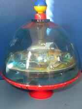 VINTAGE 3D WESTERN GERMANY SPINNING TOP MOON SPACE SPACESHIP ROCKET TOY