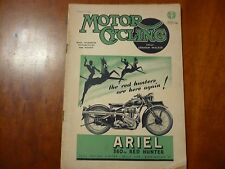 JANUARY 17, 1946 MOTOR CYCLING MAGAZINE ARIEL 350CC RED HUNTER ARIEL LODGE ADS