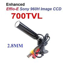 Mini Bullet Camera 700TVL CCD 2.8mm Lens CCTV Weatherproof