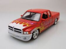 Dodge Ram Quad Cab 1500 Sport Lowrider Pickup, 2002 - Red with Flames