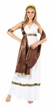 Diosa Griega Toga Fancy Dress Costume con banda de romanos antiguos Grecian Outfit