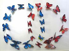 Butterfly Refrigerator Magnets 3 D Wall Sticker(2 sets or 4 sets)