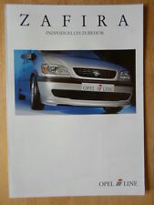 IRMSCHER OPEL Zafira 1999 German Mkt brochure prospekt - Vauxhall related