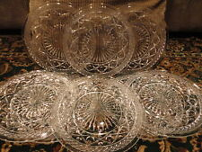 """Cape Cod Imperial Clear Glass Plate pattern glass 8 Lunch Dinner 8-1/4""""w Vintage"""