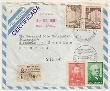 COVER ARGENTINE ARGENTINA CERTIFICADA TO SWEDEN.L634