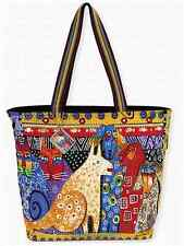 "NWT Laurel Burch LARGE Yellow A Brighter Place Dog Tote Dog Cat  19.5"" x 14"" New"