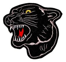 Black Panther Big Cat Embroidered Iron Sew On Patch Applique Badge Motif Tiger