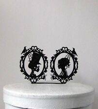 Wedding Cake Topper - Halloween Wedding Cake Topper, Skeleton Cameo Wedding Cake