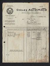 """SAINT-ETIENNE (42) USINE de CYCLES / CONSTRUCTEUR """"AUTOMOTO"""" en 1934"""