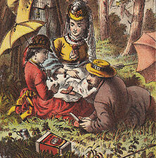 For Travel Parties Picnic Meat Libby McNeill Victorian Advertising Trade Card