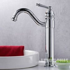 Polished Chrome Single Lever Handle Bathroom Basin Tap Vanity Faucet Mixer 10145