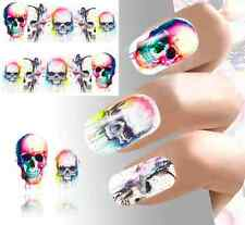 Nail Art Sticker Water Decals Transfer Stickers Halloween Skulls Blood (DB188)