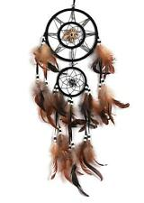 Retro Handmade Dream Catcher With Feathers Wall Home Hanging Decor Ornament-Wolf