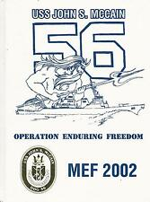 *☆ USS JOHN S.McCAIN DDG-56 ENDURING FREEDOM CRUISE BOOK YEAR LOG 2002 - NAVY ☆*