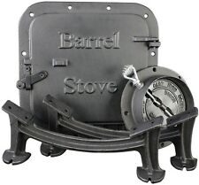 Durable Heavy Duty Cast Iron Steel Drum-to-Wood Heater Outdoor Barrel Stove Kit