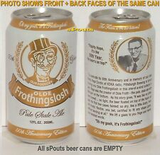 50YR GOLD OLD FROTHINGSLOSH BEER CAN REGE CORTIC KDKA PITTSBURGH,PA,PENNSYLVANIA