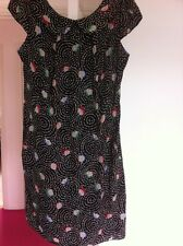 New Look Dress Size 12 New Black Floral Swirl Pansy £28.99 Shift Dress