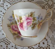 Regency English Bone China Rose Gold Trim Tea Cup & Saucer Set Made in England