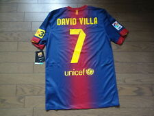 FC Barcelona #7 David Villa 100% Original Jersey Shirt S 2012/13 Home BNWT