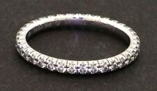 Cartier 18k white gold 0.42ct VS1/E diamond eternity band ring size 48