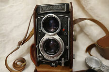 very rare Rollei Rolleicord Va Model  Type 1 view pictures FWO. With case + caps
