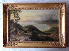 Heinrich Buntzen: Golf von Salerno, Öl/Leinwand, 1825 - monogrammiert
