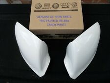 VW TRANSPORTER GENUINE NEW WING MIRRORS COVERS PAIR PAINTED VW LB9A CANDY WHITE
