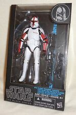"Star Wars RED CLONE TROOPER CAPTAIN #13 Black Series - 6"" Inch Action Figure NEW"