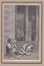 """""""le pauvre Lazare avant du riche maison """"sts. de schuler chez Herder 1790"""