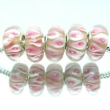 Wholesale Lots 5Pcs Lampwork Charm Beads Fit European Style Bracelets Chain Y41