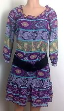 Belle du Jour Size ~ L Lar DRESS Peasant Floral 3/4 Sleeve Junior's $50 Ret