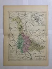 GRAVURE FRANCE ILLUSTREE DEPARTEMENT 54 MEURTHE ET MOSELLE 1881 MALTE BRUN CARTE