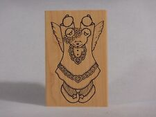 DARCIES RUBBER STAMPS R1037 TEDDY BEAR ANGEL HEART Extra Large
