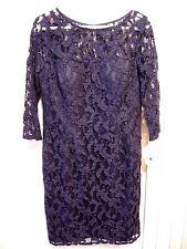 Aidan Mattox 3QSleeve Lace Cocktail Dress Women's Dress - Navy - Size12