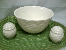 Large Serving Bowl with Salt and Pepper Shakers