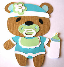 4 BABY BOYS/GIRLS FOR BABY SHOWER INVITES/TOPPERS/DECORATION 017