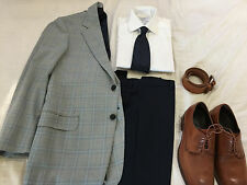 ERMENEGILDO ZEGNA WINDOWPANE 2 BTN SPORT COAT JACKET 38 REGULAR 38R